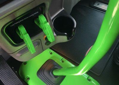 close up parking brake view green 27