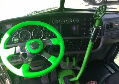 full on steering wheel view green 26
