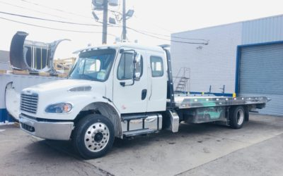 2060: 2019 Freightliner Ext Cab w 22′ Chevron Aluminum Carrier