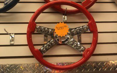 "18"" Red Skull Steering Wheel"