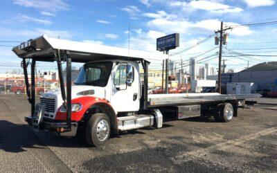 U-544: 2018 Freightliner w 30′ Chevron 4 Car Carrier